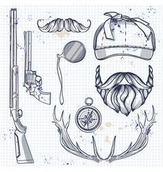attributes hunter icon vector image