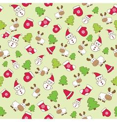 Baby winter seamless pattern vector