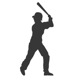 Baseball player silhouette icon vector