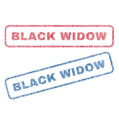 Black widow textile stamps vector