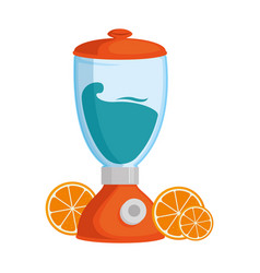 blender electric with oranges vector image