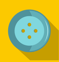 blue clothing button icon flat style vector image