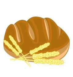 Bread and ear of the wheat vector image