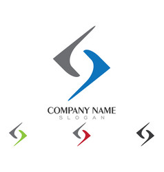 business corporate s letter logo design vector image