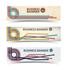 Business horizontal banners collection vector