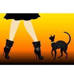 cat and boots vector image