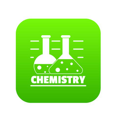 chemistry icon green vector image
