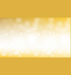 christmas night golden glitter bokeh background vector image