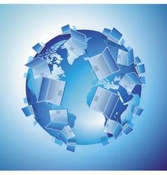Computer world concept vector