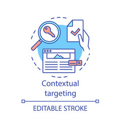 Contextual targeting concept icon copywriting seo vector