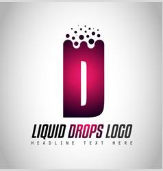 creative liquid drops letter logo design for vector image