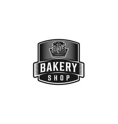 cupcake bakery shop logo design vector image