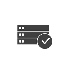database server vote yes icon element vector image