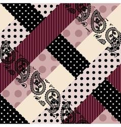 Diagonal checkered collage vector