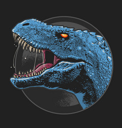 dinosaur t-rex head artwork vector image