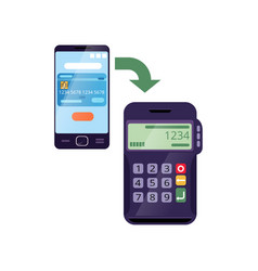 Easy wireless payment method using smartphone and vector