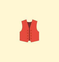 flat icon vest element of vector image