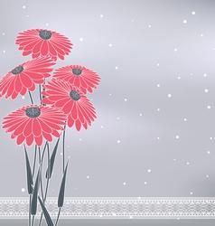 flow pink five vector image