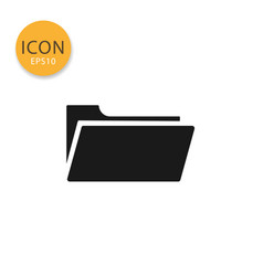 folder icon isolated flat style vector image