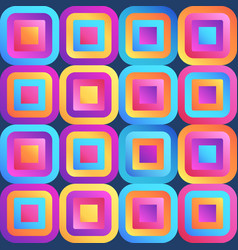 fresh modern gradient squares seamless pattern vector image