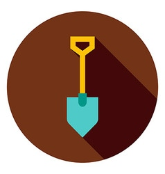 Garden Tool Shovel Circle Icon vector image