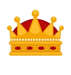 Gold crown flat icons vector image