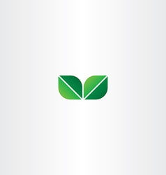 green eco leaf logo element vector image