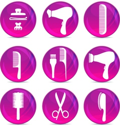 Hair dressing tools vector