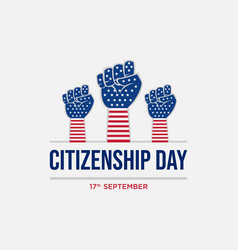 Happy citizenship design vector