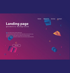 landing page vector image