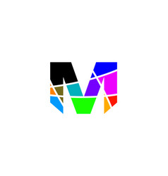 M letter colorful logo vector