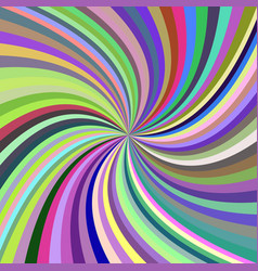 Multicolored abstract spiral background vector