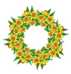 Narcissus wreath vector