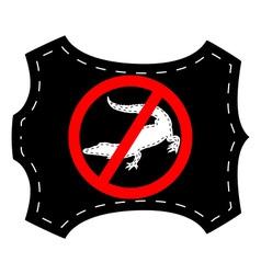 no crocodile leather vector image
