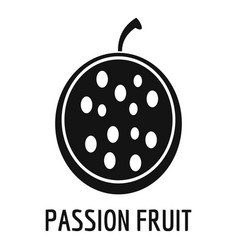 Passion fruit icon simple style vector