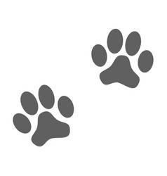 paws prints vector image