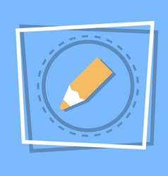 pencil icon writing web button vector image