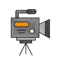 Professional recording camera vector