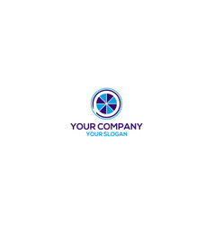 Profit financial logo design vector