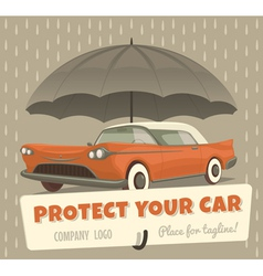 Protect your car vector