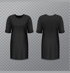 realistic black woman dress or long shirt vector image