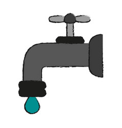 Regular faucet icon image vector