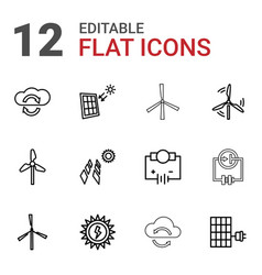 Renewable icons vector