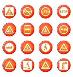 Road Sign Set icons set vector