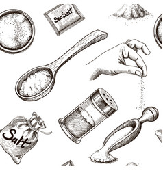 salt spicy cooking seamless pattern wallpaper vector image