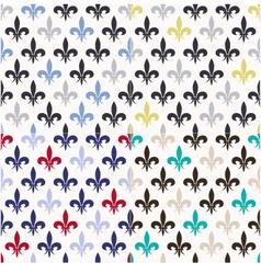 seamless fleur de lis pattern vector image