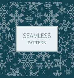 seamless winter pattern vector image