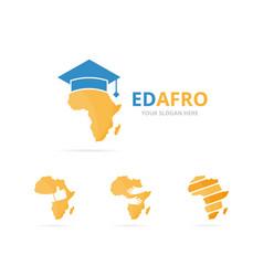 set of africa logo combination safari and study vector image