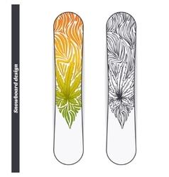 Snowboard Design Three vector