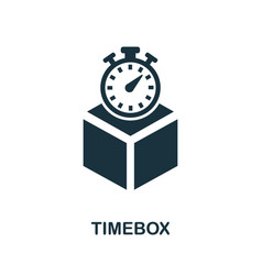 timebox icon symbol creative sign from agile vector image